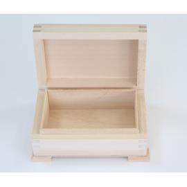 Дървена кутия, правоъгълна 12х8х5 см