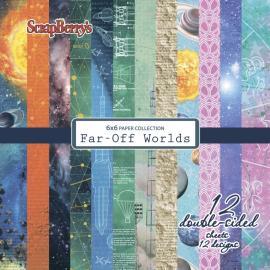 Дизайнерска хартия,6x6 инча, Far-Off Worlds