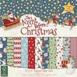 Дизайнерска хартия блокче,12х12, Нощта преди Коледа