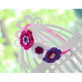 Диадема с три цветчета