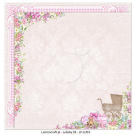 Дизайнерска хартия, 12x12 - Lullaby 3