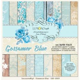 Дизайнерска хартия, блокчe - Gossamer Blue 6х6 инча