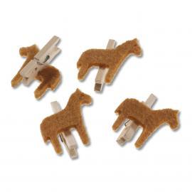 Дървени щипки- кончета