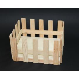 Дървена щайга, оградка 21х17 см