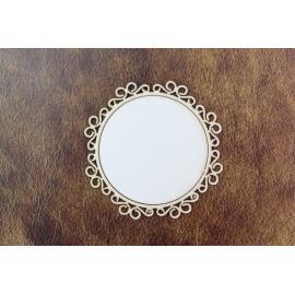 Бирен картон - рамка кръг
