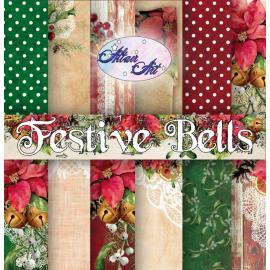 Дизайнерска хартия, блокче 12x12 - Festive Bells