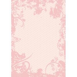 Дизайнерска хартия, А4 - Точки с орнаменти, пудра 5