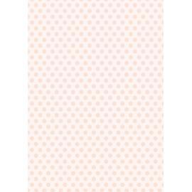 Дизайнерска хартия, А4 - Средни точки, праскова 2
