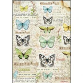 Оризова хартия за декупаж - Пеперуди 1