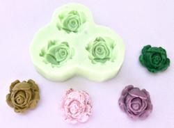 Силиконова форма- шаби рози