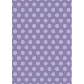 Дизайнерска хартия, А4 - Големи точки, лилаво 1