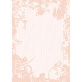 Дизайнерска хартия, А4 - Точки с орнаменти, праскова 5