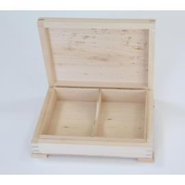 Дървена кутия, правоъгълна 16х12х4.5 см