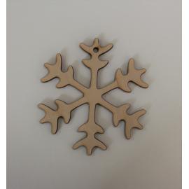 Дървена снежинка10 см