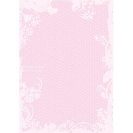 Дизайнерска хартия, А4 - Точки с орнаменти, розово 6