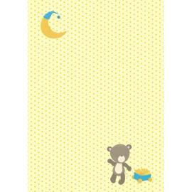 Дизайнерска хартия, А4 - бебе мече с количка