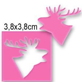 Пънч глава на елен, профил - 3,8см