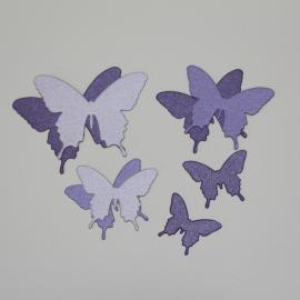 Хартиени елементи - пеперуди, микс