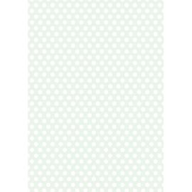 Дизайнерска хартия, А4 - Средни точки, мента 3