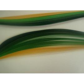 Квилинг лентички - зелена гама, 3мм, 50см