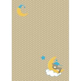 Дизайнерска хартия, А4 - бебе - мече на луна