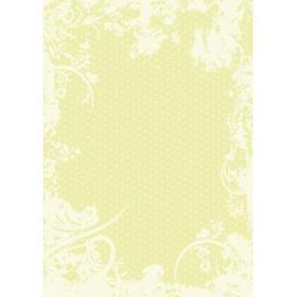 Дизайнерска хартия, А4 - Точки с орнаменти, лайм 10
