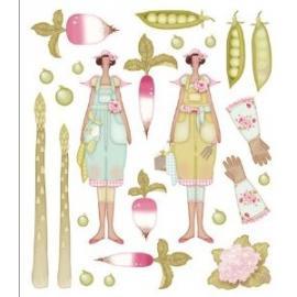 Цветни стикери Тилда - градина