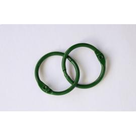 Метални халкички, 35 мм, зелени, 2 бр