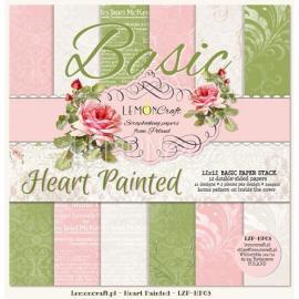 Дизайнерска хартия, блокче Heart Painted