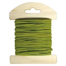 Велурена панделка, зелена