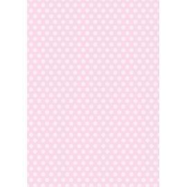 Дизайнерска хартия, А4 - Средни точки, розово 1