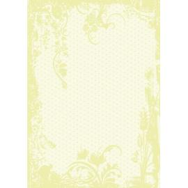 Дизайнерска хартия, А4 - Точки с орнаменти, лайм 4