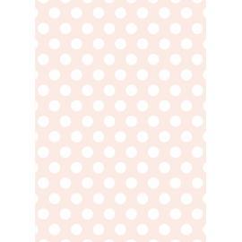 Дизайнерска хартия, А4 - Големи точки, пудра 3