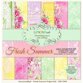 Дизайнерска хартия, блокчe - Fresh Summer, 12х12 инча