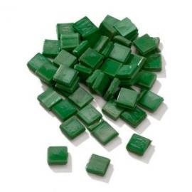 Мозайка от мурано стъкълца, тъмно зелена
