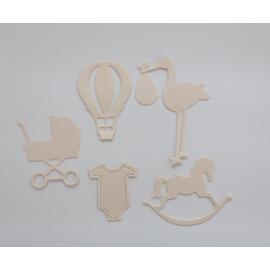 Хартиени елементи - бебешки, праскова