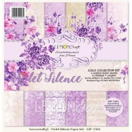 Дизайнерска хартия, блокчe - Violet Silence, 12х12 инча
