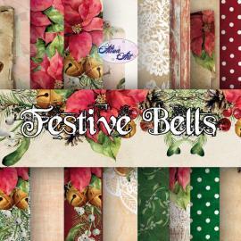 Дизайнерска хартия, блокчe - Festive Bells 6x6 инча