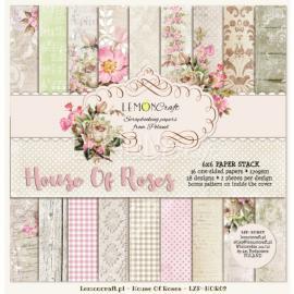 Дизайнерска хартия, блокчe - House of roses 6х6 инча