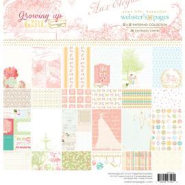 Дизайнерска хартия, блокче 12х12 Момиче