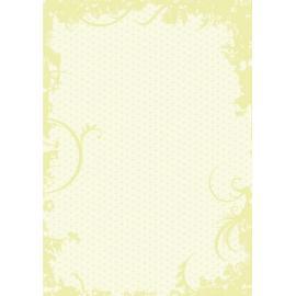 Дизайнерска хартия, А4 - Точки с орнаменти, лайм 2