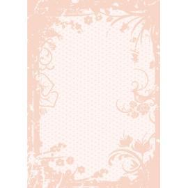 Дизайнерска хартия, А4 - Точки с орнаменти, праскова 3