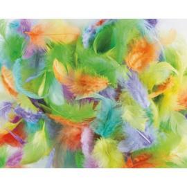 Пера, пастелни цветове, микс
