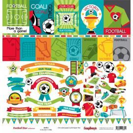 Дизайнерска хартия, топери - Football Star