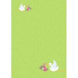 Дизайнерска хартия, А4 - бебе мече и щъркел