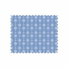 Tante Ema- синьо платче на бели сърчица