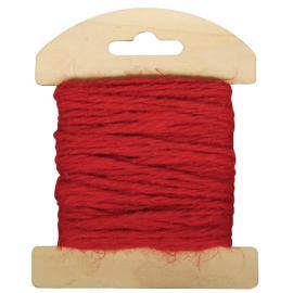 Шнур юта, червен, 1,5 мм