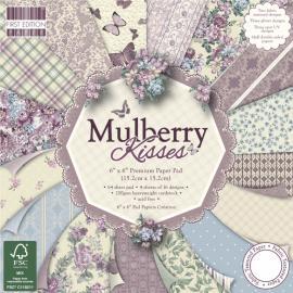 Дизайнерска хартия, блокчe - Mulberry Kisses, 6х6 инча