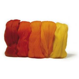 Суперфино мерино -жълтооранжева гама, 50гр