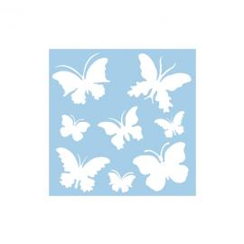 Шаблон - пеперуди, 30 х 30 см